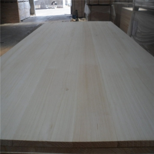 20/27MM Bleached paulownia edge glued board used for coffin door frame