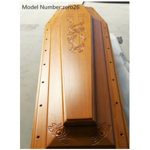 Funeral Solid Wooden Coffin Wood Casket