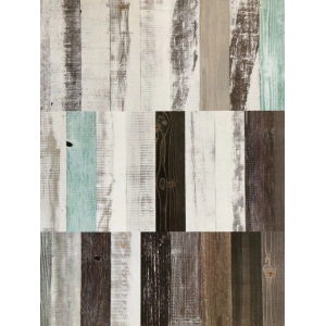 carbonizing and antique board with multiple different colors and textures