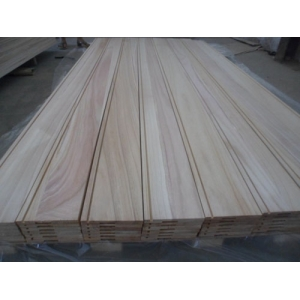 paulownia edge glued board for wall panel with groove