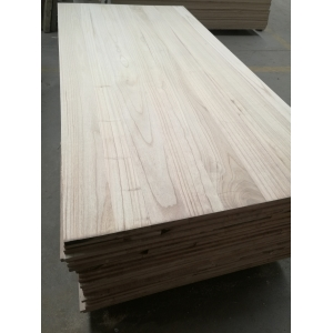 paulownia edge glued board with bleached white color