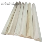 "China 3/4 "" x 3/4"" Wood Chamfer Paulownia Triangle Wood Strips factory"