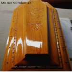 China Funeral Solid Wooden Coffin Wood Casket factory