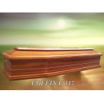 China funeral supplies Euro Style Wood Coffin fábrica