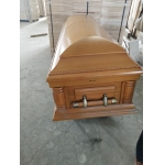 China hardwood coffins with carving US and Europe coffins factory