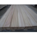 China paulownia edge glued board for wall panel with groove factory