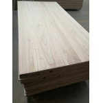 China paulownia edge glued board with bleached white color factory