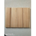 China poplar edge glued solid board with UV3S(clear coat) and dovetail groove factory