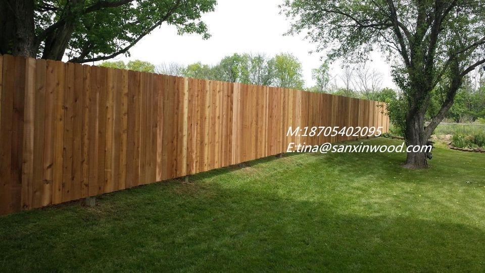 Dog Eared Chinese Cedar Fence Board