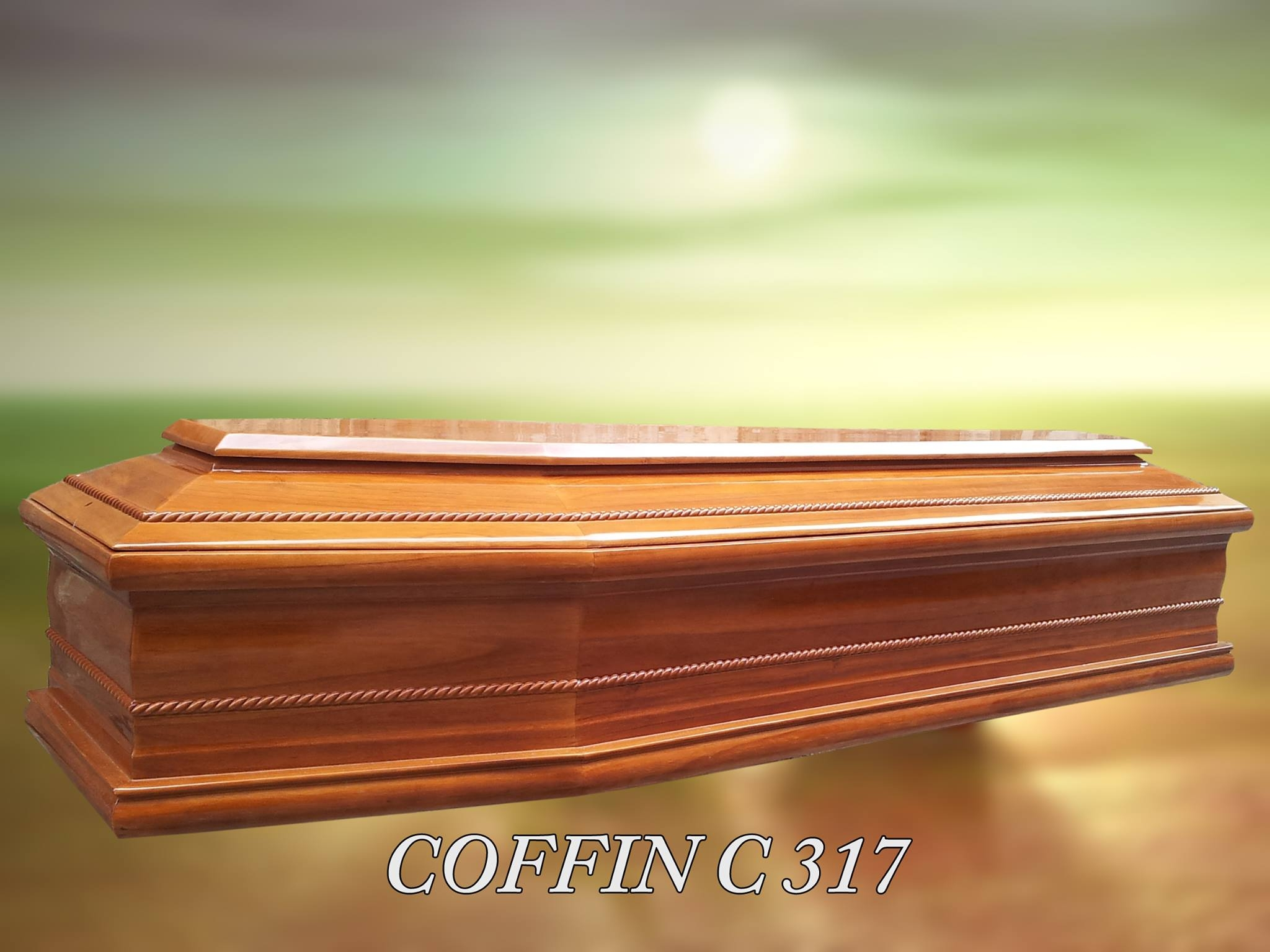 funeral supplies Euro Spain Style Wood Coffin